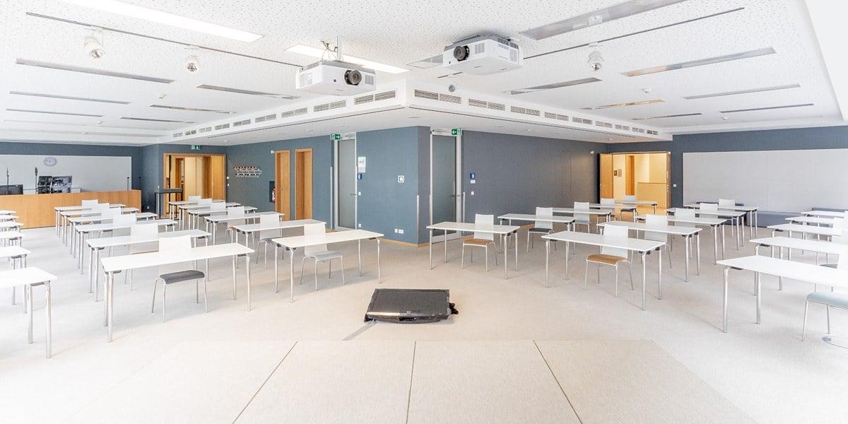 Quadriga Forum Sicherheitskonzept Räume